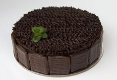 Fudgy Chocolate Cake with chocolate mint mousse