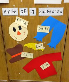 Have students build their own scarecrow as a center. TONS of Math, Reading, and Writing Activities! And a FREEBIE! Fall Preschool Activities, Preschool Lessons, Preschool Classroom, Preschool Learning, Classroom Activities, Toddler Activities, October Preschool Themes, Preschool Fall Theme, Autumn Activities For Babies