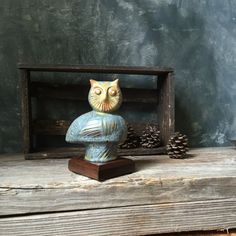 Blue Mountain Pottery Owl:  Vintage BMP Canadian Pottery, Owl Figurine, Canadian Collectible Pottery by Untried on Etsy