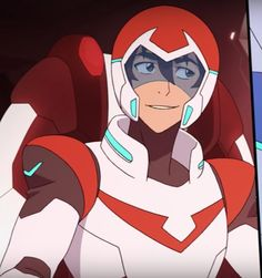 Keith the Red Paladin with a mischievous cute smile from Voltron Legendary Defender