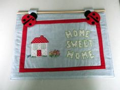 customers order for a home sweet home wall hanging