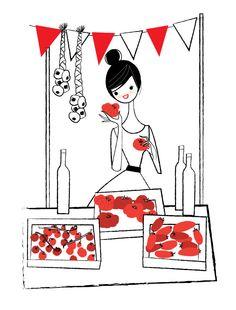 Market day- the tomato stall by Nila Aye