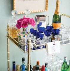 bar cart :: A NEAT Hostess with the Mostess | NEAT Method #organize #neat