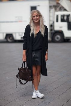 Street Style 2014: Copenhagen Fashion Week. Leather Skirt