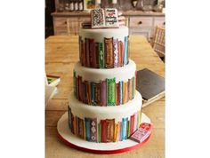 Torte a tema, libreria, cake design Pretty Cakes, Cute Cakes, Beautiful Cakes, Amazing Cakes, Beautiful Boys, Super Torte, Bolo Cake, Tier Cake, Gateaux Cake