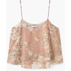 Floral Print Top ($27) ❤ liked on Polyvore featuring tops, frilly tops, floral tops, floral ruffle top, flutter-sleeve top and round top