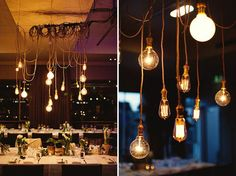 Creative lighting for a wedding
