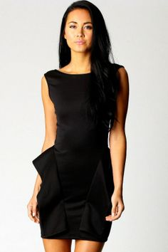 Fabulous Bare Back Ruffled Waist Party Dress