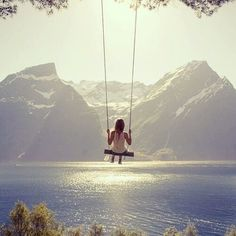 Swing on a lake