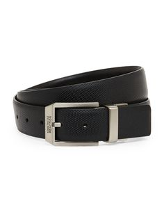 Kenneth Cole Reaction Black Reversible Perforated Belt