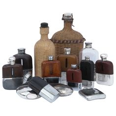 Victorian Flasks | From a unique collection of antique and modern barware at https://www.1stdibs.com/furniture/dining-entertaining/barware/