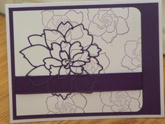 Purple Dalia by mayodino - Cards and Paper Crafts at Splitcoaststampers