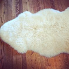 Genuine Large Vintage Sheep Skin Area Rug (Unbleached)