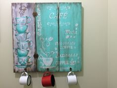 Gisele, Diy Wood Projects, Stencils, Painting, Ideas, Wood Paintings, Wood Art, Wooden Plaques, Coffee Nook