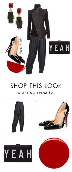 """Poppin Collars"" by tspotstyles ❤ liked on Polyvore featuring Emanuel Ungaro, Todd Lynn, Christian Louboutin, Deborah Lippmann, Chico's, women's clothing, women, female, woman and misses"