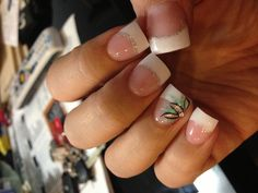 Elegant And Stylish Nails Art 2014 French Nail Designs, Beautiful Nail Designs, Hair And Nails, My Nails, Nail Manicure, Glitter Nails, Nail Polish, Cute Nails, Pretty Nails