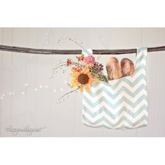 Chevron Blue Perfect Tote | Lazy Mondays $40