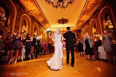 Couples grand entrance into the Gold Ballroom at the Hotel du Pont!  Photo Credit: www.jennchildress.com  www.Hoteldupont.com/weddings