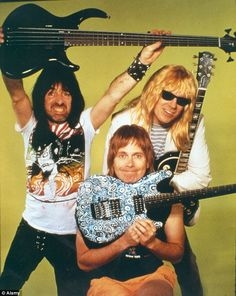 Stars: You might remember that in the film Spinal Tap (pictured), successive drummers meet unexpected ends: John 'Stumpy' Pepys dies in a gardening accident; Eric Childs chokes to death on someone else's vomit; and Peter 'James' Bond spontaneously combusts in the middle of a drum solo