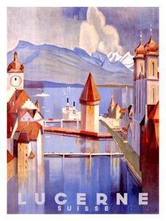 Lucerna Stampa giclée di Otto Baumberger su AllPosters.it