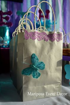 Take home treats at a Butterfly Kisses Party #butterfly #partytreats