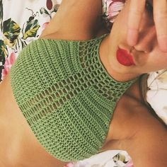 T Halter Crochet Crop Top por CrochetbyLaRae en Etsy                                                                                                                                                                                 More