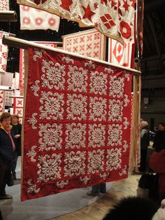 """Three Centuries Of Red And White Quilts"" 