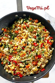 Vegetarian Recipes, Healthy Recipes, Paella, Fried Rice, Tofu, Lunch Box, Food And Drink, Healthy Eating, Vegan