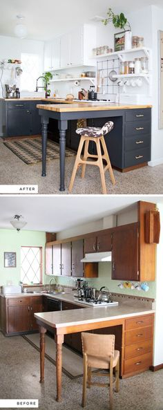 Como pintar azulejos. antes y despues de reforma cocina con ...