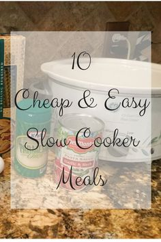 10 Cheap and Easy Slow Cooker Meals - Love To Frugal 10 cheap and easy slow cooker meals<br> There's not a better tool in your kitchen that can save time and money like the slow cooker. Here are 10 cheap and easy slow cooker meals everyone will love Cheap Easy Meals, Frugal Meals, Budget Meals, Inexpensive Meals, Easy Dinners, Slow Cooking, Cooking On A Budget, Freezer Cooking, Freezer Meals