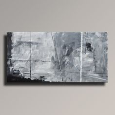 ABSTRACT PAINTING Black White Gray Painting by Art70studio on Etsy