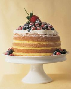 1-2-3-4 Lemon Cake | Martha Stewart Living - The name of this old-fashioned cake comes from the simple formula used for measuring the main ingredients: one cup butter, two cups sugar, three cups flour, and four eggs.