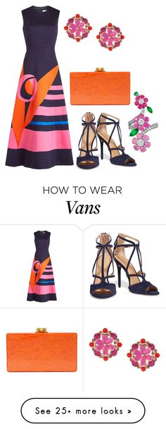 """Без названия #2503"" by claire-hamilton-bristol on Polyvore featuring Delpozo, Halston Heritage, Edie Parker, Kate Spade and Van Cleef & Arpels"