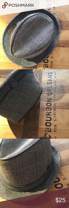 Fedora // trilby hat Mostly grey, worn once. Other items in images listed separately unknown Accessories Hats