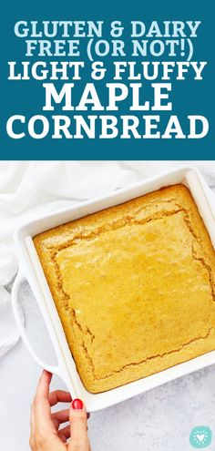 Maple Cornbread - This gently sweet cornbread recipe is the perfect complement to a bowl of chili or a big chopped salad. (Gluten-Free, Dairy-Free) // sweet cornbread recipe // maple cornbread recipe // gluten free cornbread // fall cornbread #maple #cornbread #glutenfree #cornbreadandchili
