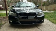 Gloss black dual slat front kidney grilles on BMW Bmw Series, Matte Black, Car, Accessories, Automobile, Autos, Cars, Jewelry Accessories