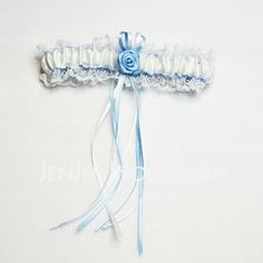 Garter - $6.99 - Rose Bridal Garter With Elegant Ribbons (104019302) http://jenjenhouse.com/Rose-Bridal-Garter-With-Elegant-Ribbons104019302-g19302