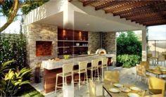 Resultado de imagen para area gourmet moderna com piscina