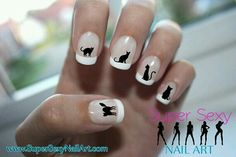 Kitty nail decals