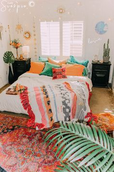 boho bedroom decor Boho Bedroom Decoration Bedroom Furniture If you are lo Decoration Bedroom, Bohemian Bedroom Decor, Wall Decor, My New Room, My Room, Dorm Room, Hall Room, Casa Top, Blue Bedroom