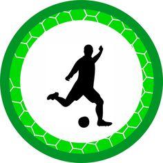 aplique futebol em papel fotográfico 150 gramas medida : 5x5 cm - 9D5836