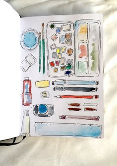 Do you love having new sketchbooks? But do you fear to spoil them? Here are 5 ideas for you first page in your sketchbook.