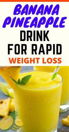 Most of the antioxidants in this versatile fruit are bound, so will have prolonged-lasting effects. Weight Loss Juice, Weight Loss Drinks, Weight Loss Smoothies, Easy Weight Loss, Healthy Weight Loss, Lose Weight, Weight Loss Shakes, Pineapple Drinks, Banana Drinks