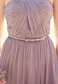 Dusky Purple Bridesmaid Dress but without the belt...