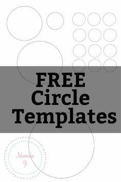 Here are several different free circle template printables. From large circles to small circles, these templates can serve as stencils for multiple crafts! Felt Templates, Templates Printable Free, Card Templates, Free Printables, Circle Template, Heart Template, Free Stencils, Stencil Diy, Felt Keyring