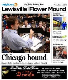 10/05 In the Classroom: The Honor Winds band at Shadow Ridge Middle School is one of only three middle-school bands invited to the prestigious Midwest Clinic in Chicago this year.