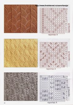 """Photo from album """"узоры on Yandex. Knitting Charts, Lace Knitting, Knitting Stitches, Knit Crochet, Stitch Patterns, Knitting Patterns, Knitted Afghans, Projects To Try, Album"""