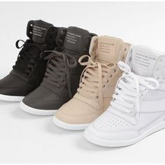 Tendance Basket Femme tenis sneakers tacon wedge plataforma piel 3 envio g. Women's Shoes, Top Shoes, Cute Shoes, Wedge Shoes, Me Too Shoes, Shoe Boots, High Heel Sneakers, Sneaker Heels, Tennis Sneakers