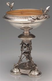 Bird Sterling Silver Centerpiece by J.R. Wendt and Company