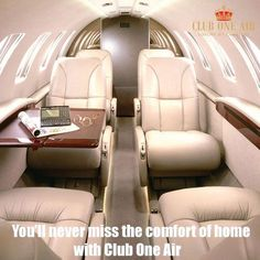 You'll never miss the comfort of home with Club One Air.